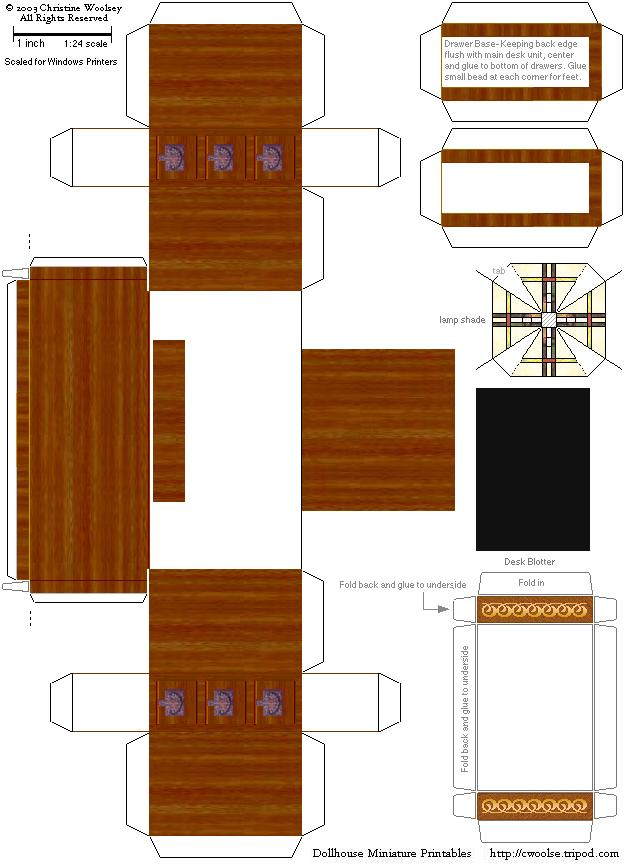 Arts And Crafts Movement Printable Doll House Furniture